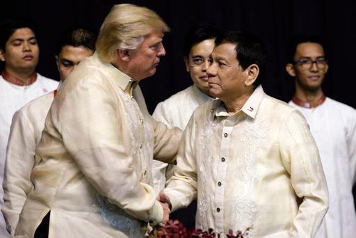 "Philippine foreign ministry spokesman Robespierre Bolivar said the two presidents shared ""an excellent rapport"" Image: Athit Perawongmetha/Pool Photo via AP"