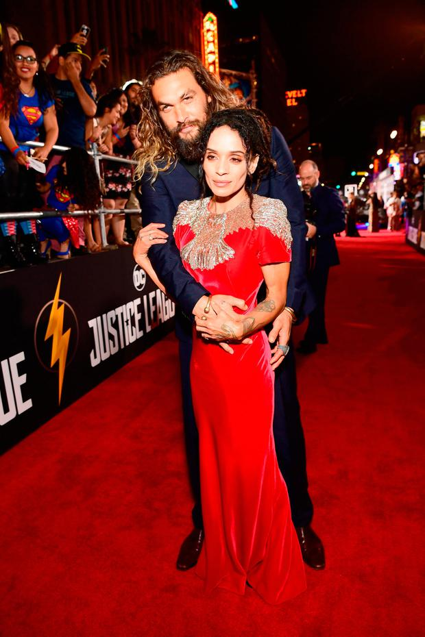 Actor Jason Momoa and Lisa Bonet attend the premiere of Warner Bros. Pictures'