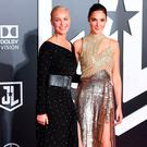 Connie Nielsen (L) and Gal Gadot arrive for the world premiere of Warner Bros. Pictures'
