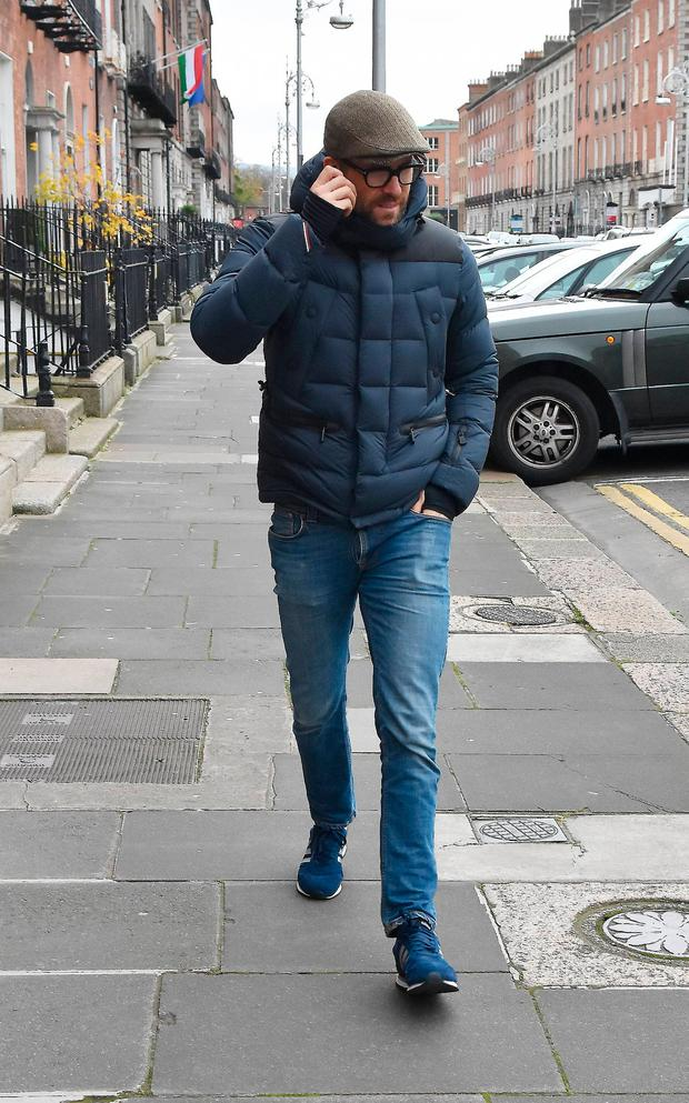 Hollywood superstar Ryan Reynolds spotted wrapped-up warm exploring Dublin City on his own as his wife Blake Lively films The Rhythm Section in Ireland