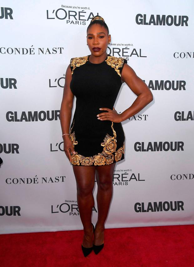 Serena Williams attends Glamour's 2017 Women of The Year Awards at Kings Theatre on November 13, 2017 in Brooklyn, New York. / AFP PHOTO / ANGELA WEISSANGELA WEISS/AFP/Getty Images