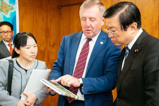 Minister Creed meeting with Japanese State Minister of Agriculture, Forestry and Fisheries, Yousuke Isozaki