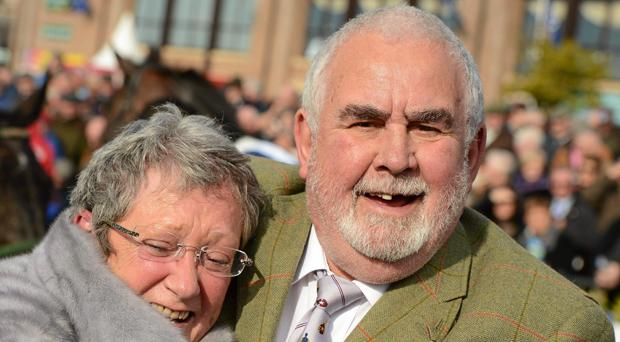 Ann and Alan Potts pictured in Punchestown in 2012