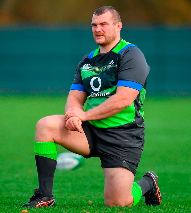 Jack McGrath during Ireland rugby squad training at Carton House. Photo: Brendan Moran/Sportsfile