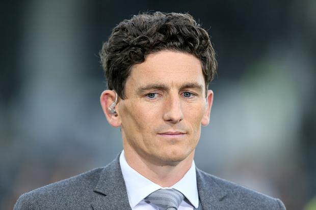 Sky sports football pundit Keith Andrews at the Sky Bet Championship match between Derby County and Hull City at the Derby County's Pride Park stadium on September 08, 2017 in Derby, England. (Photo by Richard Sellers/Getty Images)*** Local Caption *** Keith Andrews