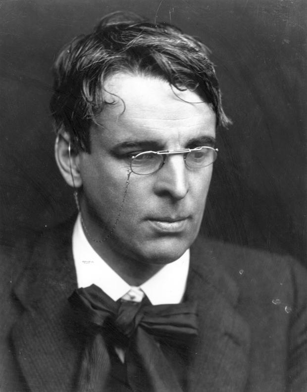 WB Yeats wearing his pince-nez glasses Picture: Hulton Archive/George C. Beresford