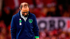 Ireland manager Martin O'Neill dejected