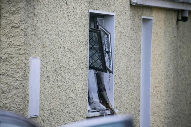 The scene of an explosion in Drogheda, Co Louth (Photo: Kyran O'Brien)