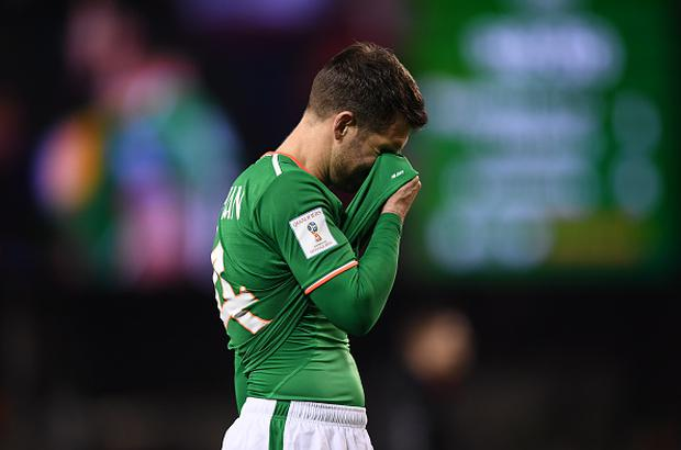 Dublin , Ireland - 14 November 2017; Wes Hoolahan of Republic of Ireland following the FIFA 2018 World Cup Qualifier Play-off 2nd leg match between Republic of Ireland and Denmark at Aviva Stadium in Dublin. (Photo By Stephen McCarthy/Sportsfile via Getty Images)
