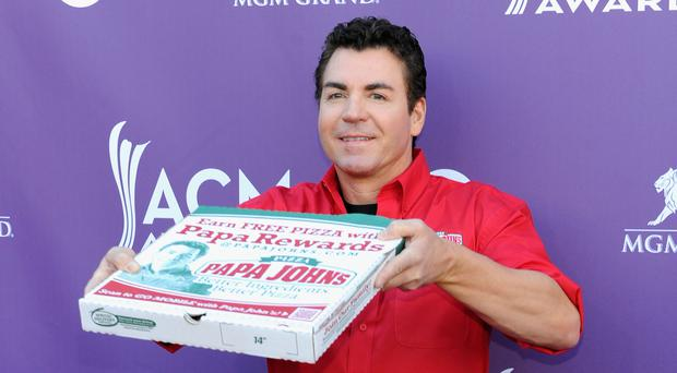 Papa Johns Pizza Founder John Schnatter arrives at the 47th Annual Academy Of Country Music Awards held at the MGM Grand Garden Arena on April 1, 2012 in Las Vegas, Nevada. (Photo by Denise Truscello/WireImage)