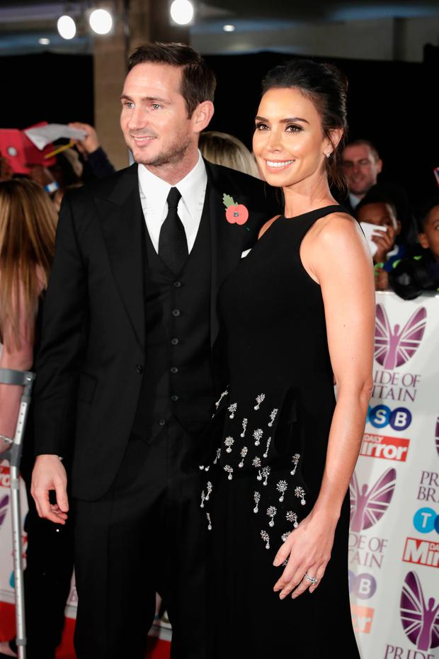Frank Lampard and Christine Lampard attend the Pride Of Britain Awards at Grosvenor House, on October 30, 2017 in London, England. (Photo by John Phillips/Getty Images)