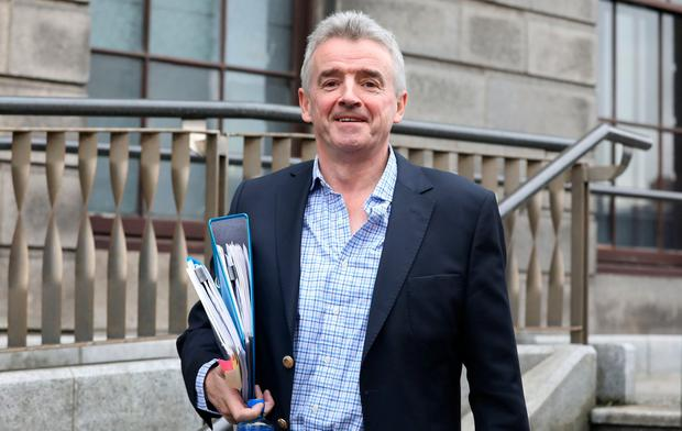 Michael O Leary of Ryanair pictured leaving the Four Courts today after giving evidence in a High Court action.Pic: Collins Courts