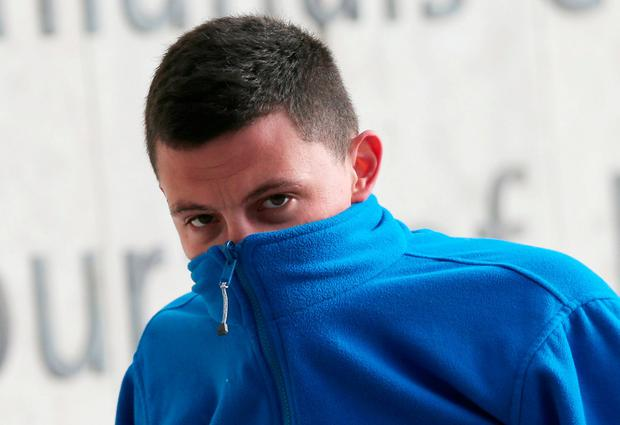 Dylan Fogarty (24) of Dunard Avenue, Cabra, Dublin arrives at the Dublin Circuit Criminal Court today where he was sentenced to two years in prison. He pleaded guilty to two counts of assault causing harm to Garda Denise Larkin and Garda Peter Ryan at Manor Street, Dublin, in August, 2016. Two counts of the theft of bikes were also taken into account. Pic: Collins Courts.