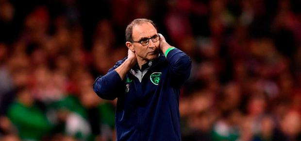 Republic of Ireland manager Martin O'Neill during the FIFA 2018 World Cup Qualifier Play-off 2nd leg match between Republic of Ireland and Denmark at Aviva Stadium in Dublin. Photo by Stephen McCarthy/Sportsfile