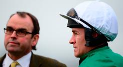 Trainer Alan King (left) with Jockey Barry Geraghty. Photo: Harry Trump/Getty Images