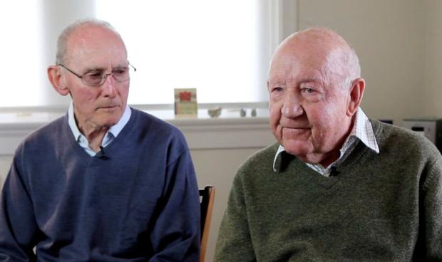 Arthur Cheeseman (85) and John Challis (89) will wed following the vote