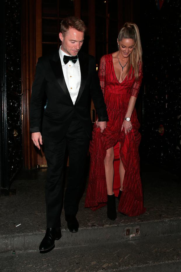 Ronan Keating and Storm Keating attend attend the Leopard Awards in Aid of the Prince's Trust at Goldsmith's Hall on November 15, 2017 in London, England. (Photo by Ricky Vigil M/GC Images)