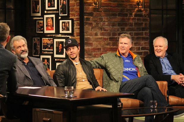 Mel Gibson, Mark Wahlberg, Will Ferrell, John Lithgow will appear on The Late Late Show on Friday night