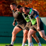Rob Herring with Andrew Porter and Jack McGrath during Ireland training