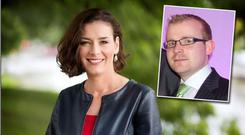 Kate O'Connell reported abuse from (inset) Barry Walsh