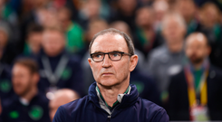 14 November 2017; Republic of Ireland manager Martin O'Neill during the FIFA 2018 World Cup Qualifier Play-off 2nd leg match between Republic of Ireland and Denmark at Aviva Stadium in Dublin. Photo by Stephen McCarthy/Sportsfile