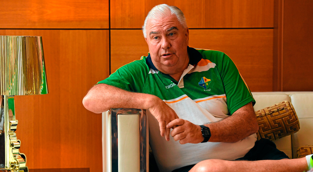 Manager Joe Kernan during an Ireland International Rules press conference in Perth, Australia. Photo: Sportsfile