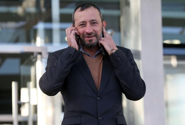 16/11/2017. Lino Simonetti (38) of Aungier Street, Dublin, pictured leaving the Dublin Circuit Criminal Court this afternoon after receiving a four year suspended sentence. He previously pleaded guilty to possession of cocaine and cannabis for sale or supply at his home in September, 2016. Pic Collins Courts.