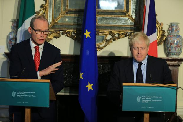 Foreign Affairs Minister Simon Coveney and UK Secretary of State for Foreign Affairs Boris Johnson