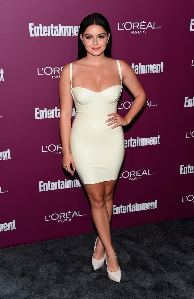 Ariel Winter attends the Entertainment Weekly 2017 pre-Emmy party at the Sunset Tower hotel in West Hollywood, on September 15, 2017. / AFP PHOTO / CHRIS DELMAS