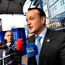 Leo Varadkar arrives for the EU Social Summit for Fair Jobs and Growth in Gothenburg, Sweden November 17, 2017. TT News Agency/Jonas Ekstromer/via REUTERS