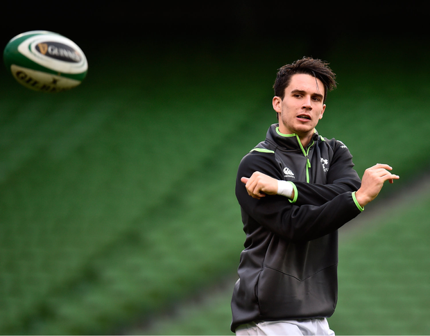 17 November 2017; Joey Carbery during the Ireland rugby captain's run at the Aviva Stadium in Dublin. Photo by Seb Daly/Sportsfile