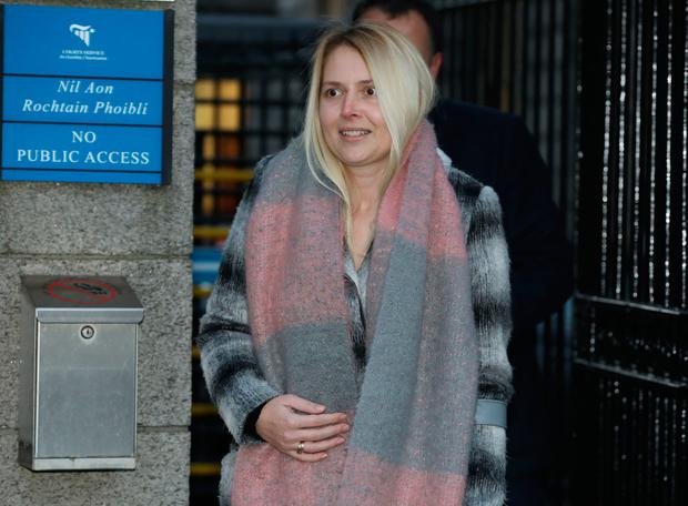 Alison McCurtin of Orwell Road, Templeogue, Dublin pictured leaving the Four Courts after the opening day of her High Court action.Pic: Collins Courts