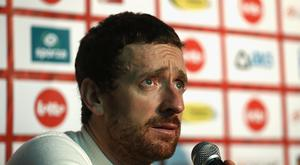 Sir Bradley Wiggins of Great Britain and Team John Saey - Callant talks in a press conference after victory during the final day of the 76th 6 Days of Gent race at Kuipke Track Velodrome on November 20, 2016 in Gent, Belgium. (Photo by Bryn Lennon/Getty Images)