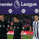 Gareth Barry of West Bromwich Albion lines up for his record breaking appearance under the Premier League logo before the Premier League match between Arsenal and West Bromwich Albion at Emirates Stadium on September 25, 2017 in London, England. (Photo by Catherine Ivill - AMA/WBA FC via Getty Images)