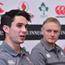 Joey Carbery with head coach Joe Schmidt during an Ireland rugby press conference at Carton House in Maynooth, Kildare. Photo by Matt Browne/Sportsfile