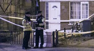 Scene of the shooting in Dublin tonight