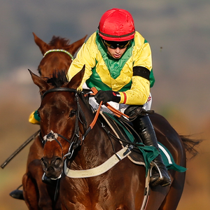 Finian's Oscar and Bryan Cooper win at Cheltenham yesterday. Photo: Getty Images