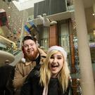 Little Kelly and Sharky welcomed Santa to Dundrum Town Centre this week
