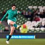 18 November 2017; Joey Carbery of Ireland warms-up prior to the Guinness Series International match between Ireland and Fiji at the Aviva Stadium in Dublin. Photo by Seb Daly/Sportsfile