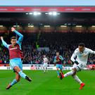 Martin Olsson of Swansea City has a shot on goal. Photo: Getty Images