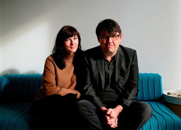 Graham Linehan with wife Helen, who collaborated on the Motherland series