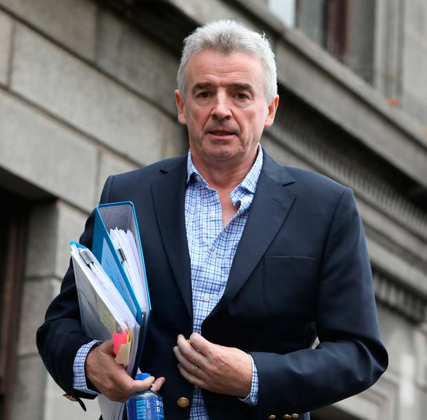 Michael O'Leary at the Four Courts. Picture: Collins