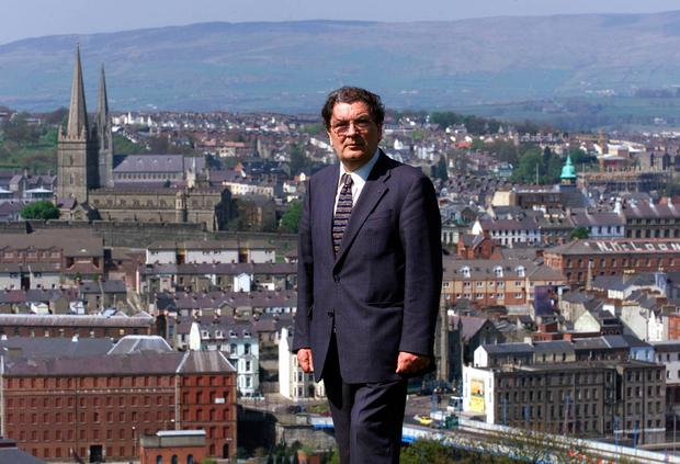 WISDOM: John Hume and Derry City. Picture: PA