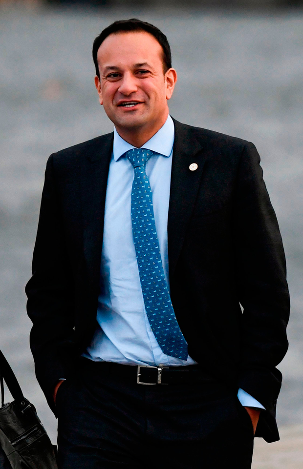 Tweeter: Leo Varadkar walks on a pier after leaving the luncheon during the European Social Summit in Gothenburg, Sweden, on November 17, 2017. Photo: Getty Images