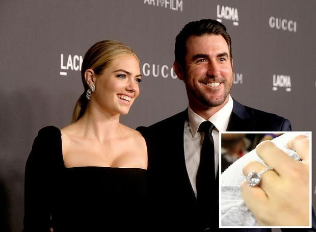 LOS ANGELES, CA - OCTOBER 29: Model/actress Kate Upton (L) and MLB player Justin Verlander attend the 2016 LACMA Art + Film Gala honoring Robert Irwin and Kathryn Bigelow presented by Gucci at LACMA on October 29, 2016 in Los Angeles, California. (Photo by Frazer Harrison/Getty Images for LACMA)