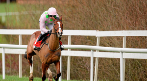 24 January 2016; Faugheen, with Ruby Walsh up, on their way to winning the BHP Insurances Irish Champion Hurdle. Leopardstown Racecourse, Leopardstown, Co. Dublin. Picture credit: Brendan Moran / SPORTSFILE
