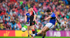 20 August 2017; Bryan Sheehan of Kerry kicks a free during the GAA Football All-Ireland Senior Championship Semi-Final match between Kerry and Mayo at Croke Park in Dublin. Photo by Stephen McCarthy/Sportsfile