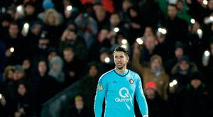 Brad Jones of Feyenoord during the Dutch Eredivisie match between Feyenoord v VVV-Venlo at the Stadium Feijenoord on November 18, 2017 in Rotterdam Netherlands (Photo by Laurens Lindhout/Soccrates/Getty Images)
