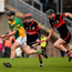 19 November 2017; Daniel Currams of Kilcormac - Killoughey in action against Willie Hickey, centre, and David Phelan of Mount Leinster Rangers during the AIB Leinster GAA Hurling Senior Club Championship Semi-Final match between Kilcormac - Killoughey and Mount Leinster Rangers at O'Connor Park in Tullamore, Co Offaly. Photo by Seb Daly/Sportsfile