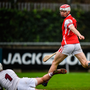 19 November 2017; Con O'Callaghan of Cuala after scoring his side's second goal during the AIB Leinster GAA Hurling Senior Club Championship Semi-Final match between Cuala and St Martin's GAA Club at Parnell Park in Dublin. Photo by Cody Glenn/Sportsfile